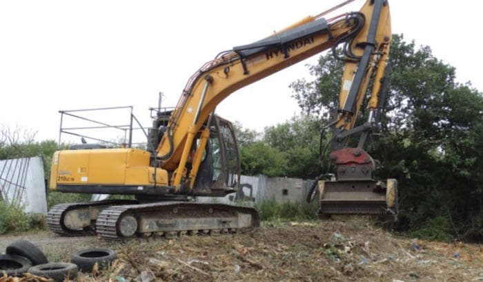 Excavator Forestry Flail Hire