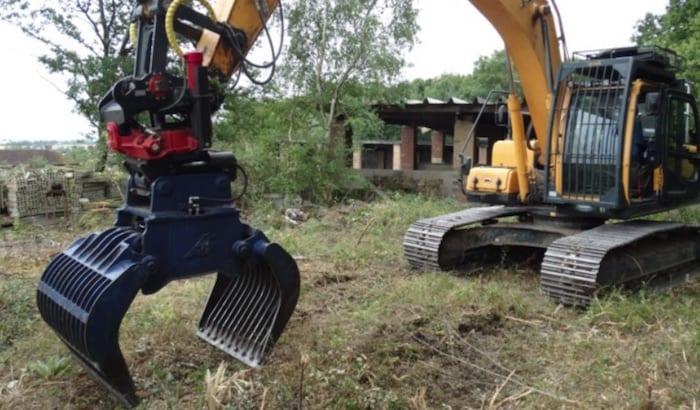 Excavator Forestry Grab Hire