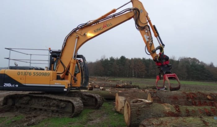 Excavator Forestry Timber Grab Hire