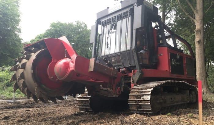 RT400 stump grinder hire