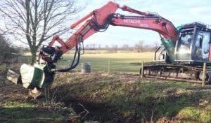 excavator large stump grinder hire