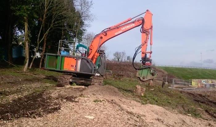 excavator stump grinder hire