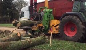 heizohack wood chipper hire