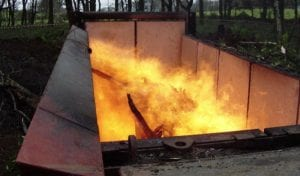 hook lift incinerator hire