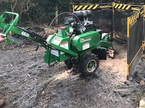 small stump grinder hire