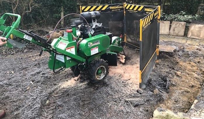 small stump grinder hire