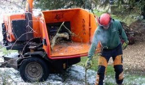 wood chipper hire