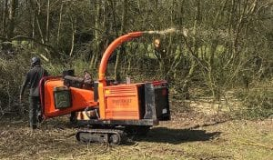 tracked wood chipper hire