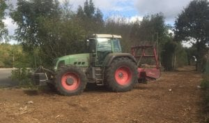 tractor mounted mulcher hire